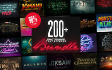 200+ Outstanding Photoshop Text Effects Bundle($1700 Value)