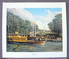 HARLEY MURRAY–YELLOW STONE–Steamship-Texas Revolution–LE S&N Art Prints on Paper