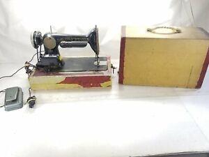 Singer 66 Redeye Antique 1921 Red Eye Sewing Machine, Vintage Model Untested #1