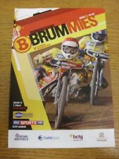 28/08/2013 Speedway Programme: Birmingham v Coventry (4 Pages, results noted). T