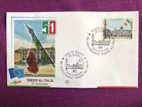 ITALIA 2004 BUSTA PRIMO GIORNO 50° ANNIVERSARIO DI TRIESTE ALL'ITALIA