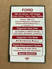 FORD ROTUNDA Special Tools NGS Tester RED Card Version 9800-521 1984-93 Vehicles