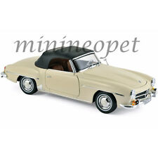 NOREV 183539 1957 MERCEDES BENZ 190 SL 1/18 DIECAST MODEL CAR BEIGE