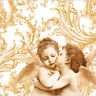 "Paper Luncheon Napkins 2x20 pcs 13""x13"" Sweet Angels Gold"