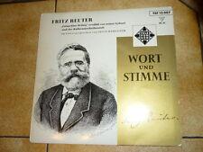 """Single 7"""" """"FRITZ REUTER - Wort und Stimme""""  Ernst Hameister Telefunken 1958"""