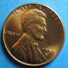 *1958-D  BU* Lincoln Wheat Cent  copper
