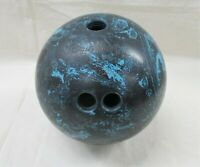 Vintage Brunswick Starfire Bowling Ball Black Blue Swirl 16 Pounds (AL)
