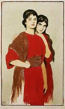 Fritz Burger, Frauentypen vom Münchener Künstler-Fest 1898, Lithographie, sign.