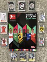 Topps Bundesliga Sticker 2020/ 2021 10/20/30/50/100/200 aussuchen Auswahl 20/21
