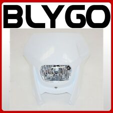 WHITE Rec Reg Head Light Lamp + Strip PIT Trail Dirt Motrocycle Motorcross Bike