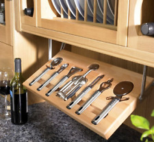 pull down utensil shelf with untensils