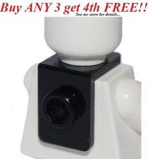 ☀️NEW Black MINIFIG NECK BRACKET Package Holder Back Plate w/ Stud-Knob