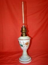 lampe à pétrole en opaline décorée,  époque 19éme (Napoléon III )