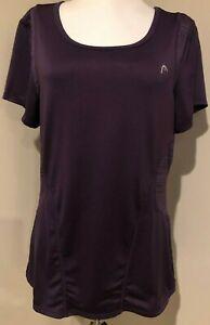 HEAD Womens Eggplant Purple Athletic Tennis Shirt Top - Sz Medium
