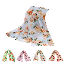 Fashion Womens Scarves Infinity Floral Voile Long Neck Stole Scarves Shawl Scarf