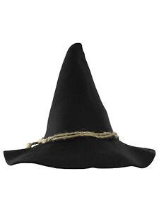 Adult Scarecrow Hat Deluxe Felt Oktoberfest Wizard Witch Hillbilly Hat Costume