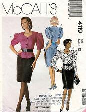 1980's VTG McCall's Misses' Top, Skirt & Belt Pattern 4119 Size 12 UNCUT