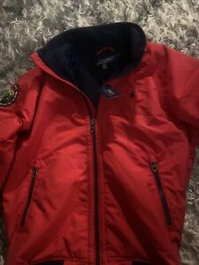 MENS SMALL RED/BLUE POLO RALPH LAUREN SPORTSMAN RESPECT WILDLIFE JACKET - NWT