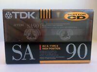 TDK SA 90 BLANK AUDIO CASSETTE TAPE NEW RARE 1991 YEAR USA MADE