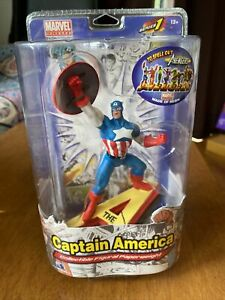 NEW CAPTAIN AMERICA RESIN COLLECTIBLE FIGURAL PAPERWEIGHT MARVEL AVENGERS! Mint