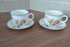 Marks & Spencer M&S Ashberry 2 Cups and Saucers St. Michael -very good condition
