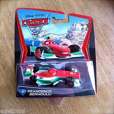 Disney PIXAR Cars 2 FRANCESCO BERNOULLI Italian WORLD GRAND PRIX # 4 diecast WGP