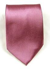 Lilac Pink 100% Silk Formal Wedding Groom Party Solid Handmade Tie Necktie S20