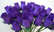 100 CADBURYS PURPLE WOODEN ROSES WEDDING FAVOURS FLOWERS WHOLESALE SUPPLIES