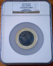 2012 $50 FIJI TITANIC 5OZ SILVER PROOF MOTHER OF PEARL * NGC PF68 ULTRA CAMEO *