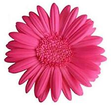 48 x PINK GERBERA FLOWERS EDIBLE FLAT CUP CAKE TOPPERS FREE DELIVERY INCLUDED!!