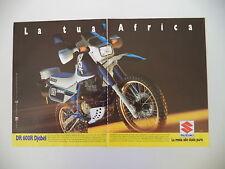 advertising Pubblicità 1987 MOTO SUZUKI DR 600 R DJEBEL