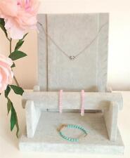 Gris Velours Collier, bracelet, bracelet, montre, Bague display stand unité SET