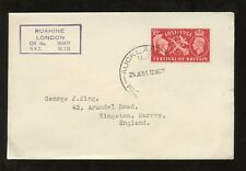 NEW ZEALAND 1951 GB FESTIVAL...PACKET BOAT PMK to GEORGE KING...SHIP RUAHINE