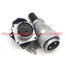 WS28 2Pin Power Connector, 50A Aviation Bulkhead Connector Electrical Plug 500V