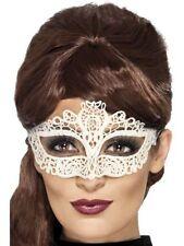 Maschere bianco Smiffys in poliestere per carnevale e teatro