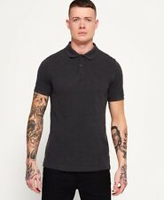 New Mens Superdry Polo Shirts Selection - AO - REFINED Charcoal Marl - 20% OFF!