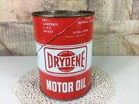 Vintage Dryden Quart Size Motor Oil Can Bank Advertising Promotional Bank