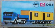Kibri 10092 h0 1:87 MB goldhofer plataforma de cargador profundamente con contenedor rareza