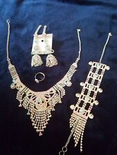 INDIAN Bollywood STYLE Wedding Bridal Necklace Fashion Jewelry Set with EARRINGS