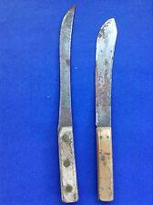 Set 2~Vintage Skinning Hunting Knives Knife~Wood Handle Full Tang~for refurbish