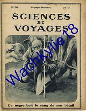 Sciences et voyages n°136 - 06/04/1922 Massaï Afrique  Vautours Shintoïsme Japon