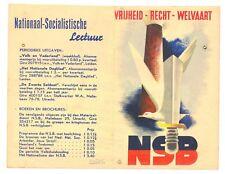 NEDERLAND WW II -NSB - BROCHURE VRIJHEID-RECHT- WELVAART - KLEIN GAATJE -