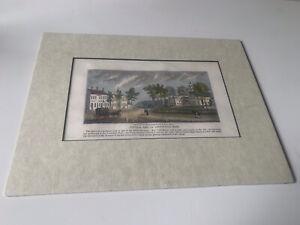 Original wood engraving 1839 John Warner Barber - Greenfield,Mass