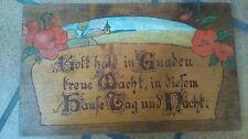 Holz Deko Schild Gott hält in Gnaden treue Wacht, in diesem Hause Tag und Nacht