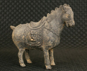 chinese old bronze hand carving horse statue good stand table decoration