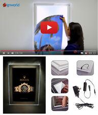 "Crystal Light Box 20"" X 28"" Clear Acrylic Backlit Illuminated LED Poster Frame"
