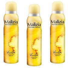 Malizia donna Body Spray Deodorant Vanilla 3x 150ml