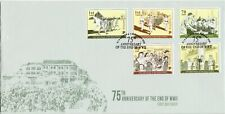 SINGAPORE 2020 75TH ANNIVERSARY OF THE END OF WWII FIRST DAY COVER WITH 5 STAMPS