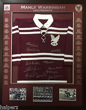 Blazed In Glory - 1972 Manly Warringah Premiers - NRL Signed and Framed Jersey