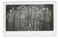 Foto, Soldatengruppe in Uniform,